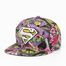 Wholesale Superman Hip Hop - Fashion quality new flower cloth hip hop hat free goddess graffiti street hood embroidery superman flat along the hat