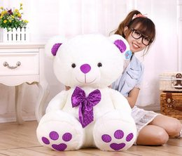 Wholesale Cute Teddy Bear Cheap - Wholesale cheap (60CM-80CM)Giant Bow tie Big Cute Plush Stuffed Teddy Bear Soft 100% Cotton Toy