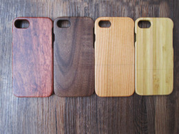 Wholesale Carved Cases - Luxury Natural Real Wooden Bamboo Mobile Phone Case For Iphone 6 7 6s plus 100% Wood Carving Cases Cellphone Hard back Cover