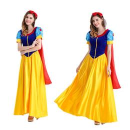 Wholesale Gown Games - Costumes Women Classic Beauty Fairytale Princess Long Dress Gown Game Uniform