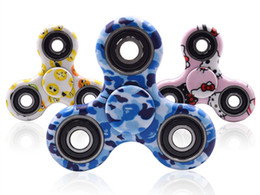 Wholesale Plastic Army Toys - Camouflage HandSpinner Fingertips Spiral Fingers Fidget Spinner EDC Hand Spinner Acrylic Plastic Fidgets Toys Gyro Toys Army green blue red
