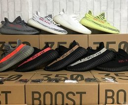 Wholesale Sports Shoe Keychain - [Double Boxes Socks Receipt Keychain] Boost 350 Sply 350 V2 cream White Zebra Bred Black Red Beluga 2.0 Running Shoes Sport Sneakers