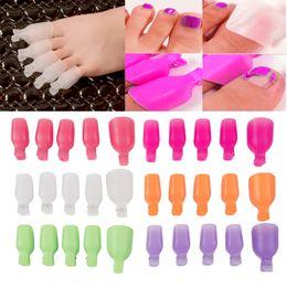 Wholesale Toe Nail Art Wraps - Wholesale- 5Pcs Plastic Foot Toe Nail Art Soak Off Cap Clip UV Gel Polish Remover Wrap Tool