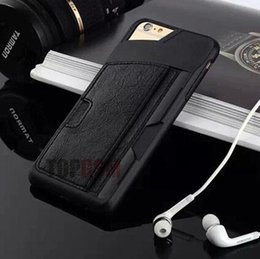 Wholesale Luxury Designer Iphone Wallet Case - Luxury New Brand Designer Cases Ultrathin Hybird TPU Leather with Wallet Card Holder Cover For iphone 5 5S 6 6S Plus Samsung S6 S6edge