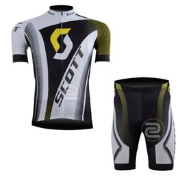 Wholesale scott bike clothing - SCOTT Cycling Jersey Sleeve Bike Short Bib set Clothes Bicycle Clothing Summer ciclismo ropa hombre Maillot sportwear G2102