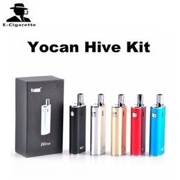 Wholesale Herbal Wax - Authentic Yocan Hive Kit with 2 in 1 Vaporizer For Wax & oil 650mah Battery Box Mods CE3 O Pen Atomizer herbal vaporizer