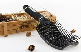 Wholesale Types Hair Dryers - Boar Hair Brushes Best Detangling Thick Hair Vented For Faster Drying Hair Brushes.
