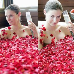 Wholesale Wholesale Dried Roses - 2015 spring Yunnan china natural rose petals dried rose petals bath bubble bath bubble foot SPA 100g  bag