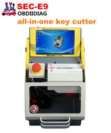 Wholesale Peugeot Car Key Cutting - SEC-E9 SEC E9 CNC Automated all-in-one Key Cutting Machine Work on Car, Truck, Motorcycle, House Key, Dimple & Tubular Keys