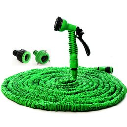 Wholesale Expandable Flexible Water 25ft - New Patent 25FT-150FT Garden Hose Expandable Magic Hose Flexible Water EU Hose Plastic Hoses Pipe With Spray Gun To Watering