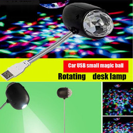 Wholesale Laser Green Usb - LED magic ball USB car magic ball Small night light Mini colorful light bulbs KTV laser stage lamps and lanterns lighting