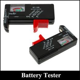 Wholesale Aa D - BT-168 BT168 Universal Button Battery Checker Tester AA AAA C D 9V Checks power level of all 1.5V 9V batteries