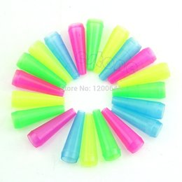 Wholesale Hookah Disposable Plastic Tips - Wholesale- Hot Sale 20 Pieces Color Female Plastic Disposable Mouth Tips Hookah Pipe Free shipping