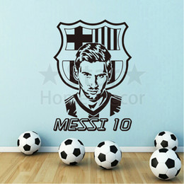 Wholesale Removable Wall Art Stickers - Good quality art new design football messi cheap home decoration Wall Sticker removable house decor soccer player decals