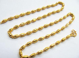 Wholesale Gold 12g - Real 14k Solid Necklace  Beads Lucky Men Women's Necklace  11.8-12g