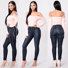 Wholesale Long Sleeve Shirt Types - 2017 new style sexy bind splicing long sleeve strapless belt T-shirt Fashion thin body type punching bandage boyfriend wind Women's T-Shir