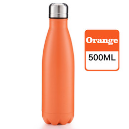 Wholesale Brand Kettles - Branded New 11 Colors Vacuum Cup Coke bottle 500 ML 304 stainless steel vacuum keep-warm glass cup Can be customized logo