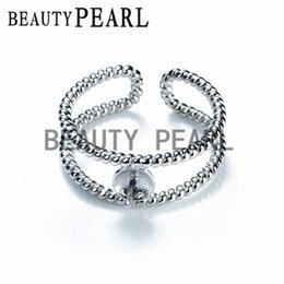 Wholesale Silver Ring Made - Bulk of 3 Pieces Ring Mount Findings Twisted Ring Band 925 Sterling Silver for DIY Making