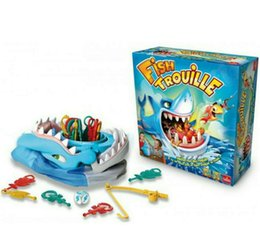 Wholesale Fishing Games Toy - Fish TROUILLE Large Shark Mouth Bite Finger Game Prank Funny Novelty Gag Fishing Toy for Kids Children Play Fun a Grumpy Friend