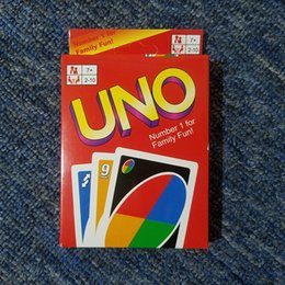 Wholesale Quality Board Games - Stock hight quality UNO poker card standard edition family fun entertainment board game Kids funny Puzzle game DHL FREE SHIPPING