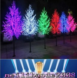 Wholesale Light Cherry Blossom Tree - 2017 new LED Bulbs Cherry Blossom Tree Light Red Blue Green Yellow White Pink Puple Optionally 1.8M 860LED Height Christmas Tree YY
