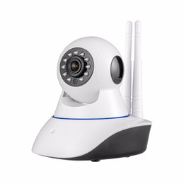 Wholesale Memory 64g - Double antenna Camera wireless IP camera WIFI Megapixel 720p HD indoor Wireless Digital Security CCTV IP Camera +64G TF memory card MOQ;1PCS