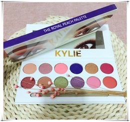 Wholesale Pen Multi Colors - 2017 Kylie Eyeshadow The Royal Peach Palette 12 color Kylie Jenners 12color Eyeshadow palette with brush pen Cosmetics Eye shadow Powder