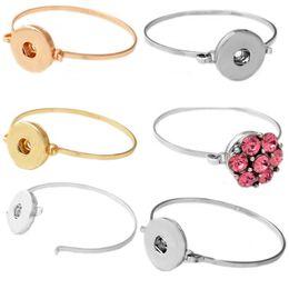 Wholesale Wholesale Kids Charm Bracelets - Wholesale-P00447 size 5.1cm kid newest rivca snap buton metal bracelet fit 18mm button snap button armband