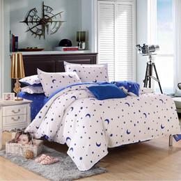 Wholesale Quilt Cover Sheet King Size - Wholesale-Hot 3Pcs 4pcs Bed Quilt Duvet Cover Pillowcae Flat Sheet Bedding Bedclothes Sets Single Double King Size Home Decor