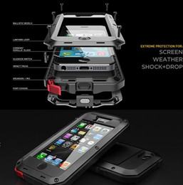 Wholesale Red Gorilla - Aluminum Glass Shockproof Waterproof Case For Samsung Galaxy S5 S6 S7 edge Note 5 Power Gorilla Protect for iPhone X 6 6s 7 Plus Phone Cover