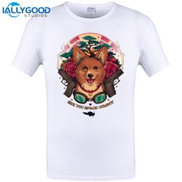 Wholesale Men See Shorts - 2017 Summer Newest Funny See You Space Cowboy Print T-Shirts Short Sleeve Rose Dog Design T Shirt High Quality Clothes Chic Tops