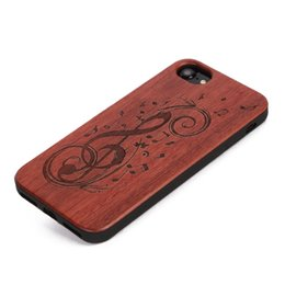 Wholesale Shock Lasers - High quality soft tpu + natural lumber edge laser engraving pattern shock proof for iphone 6 7 phone case