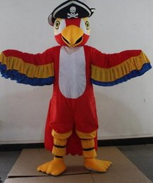 Wholesale Pirate Parrot - HOT!!! Pirates parrot mascot costume parrot cartoon costume adult size free shipping