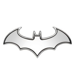 Wholesale Cool Car Stickers Decals - 3D Car Stickers Cool Bat Metal Auto Logo Batman Badge Emblem Tail Decals Auto Decoration Accessories Car-styling