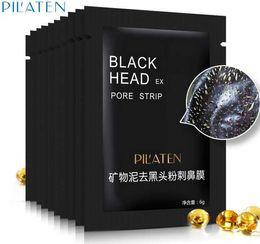 2019 masque de soie hyaluronique PILATEN 6g Soin du visage Minéraux Conk Nose Blackhead Remover Masque Nettoyant en profondeur Black Head EX Pore Strip