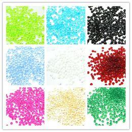 2019 decorazioni cinesi porta nuova anno 25 colori sceglie - 1000pcs 4,5 millimetri 1/3 carati verde diamante confetti perlina acrilica festa nuziale favori-spedizione gratuita