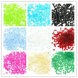 diamante de 4,5 mm Desconto 25 cores escolhe - 1000 pcs 4.5mm 1/3 Quilate de Diamante verde Confetti Acrílico Bead Wedding Party Favors-Frete grátis