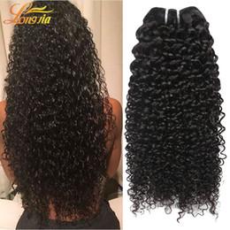 Wholesale Natural Hair Products Wholesale - Longjia Products 3Pcs Lot 7A Peruvian Human Hair Deep Curly Wave Human Hair Weaves Bundles Kinky Curly Peruvian Virgin Human Hair