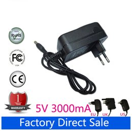 Wholesale Ampe 3g - Wholesale- 5V 3A Universal AC DC Power Supply Adapter Wall Charger For for Hero II Spark PIPO M9 3G Sanei N10 Ampe A10 Tablet PCing