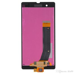 Wholesale L36h Lcd - By DHL For SONY Z L36 L36H LCD Digitizer Front Assembly Replacement LCD Touch Screen Glass Panel Parts