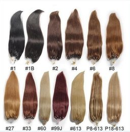 Wholesale Ring Human Hair Extension - 2017 First hand quality Micro loop human hair extensions straight cabelo human 1g s human hair micro rings extension 100g