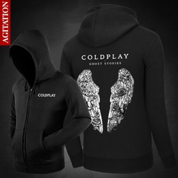 Wholesale Ghost Covers - Wholesale- Fashion Coldplay Ghost Stories album cover Hoodies Hoody Sweatshirts Loose Outerwear Cute Unisex Cotton Zipper Coat