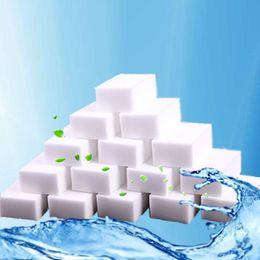 limpiadores de esponja Rebajas 100 UNIDS Gran Densidad Mágica Blanca Esponja Esponja Borrador de Esponja Hogar / Oficina Limpieza Esponja Limpiadores de Cocina 10 * 7 * 3 cm
