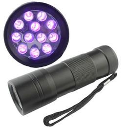 Wholesale Detector Fish - Ultra Violet UV Light Mini Portable 12 LED UV Flashlight Torch Scorpion Detector Finder Black light