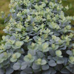 """Cespugli artificiali online-Arbusti artificiali Piante 20 """"Foglie di eucalipto Cespugli finti Giardino domestico Decorazioni fai da te Verde chiaro"""