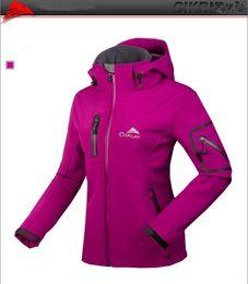 Wholesale Ladies Blue Winter Coat - Mountain Women's Waterproof Rain Fleece Softshell climbing Hiking Jacket Ladies Outdoor Sports Coats