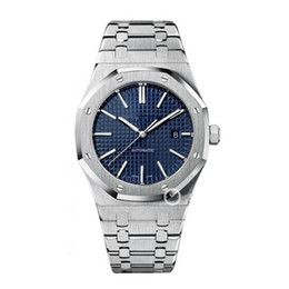 Wholesale Watch Men New - AAA Luxury Watch For Men Fashion Classic Style 42mm Stainless Steel Strap High Quality Automatic Movement Wristwatches Sapphire 15400ST