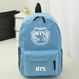Wholesale Casual Bags For Men School - Women casual laptop Backpack Style for school Kpop BTS Infinite FTIsland Bangtan Boys shoulder bags gifts