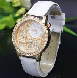 Wholesale gogoey quartz - Brand Gogoey Women Rhinestone Watches Luxury Crystal The Eiffel Tower Watch Women Ladies Fashion Dress Quartz Wristwatches