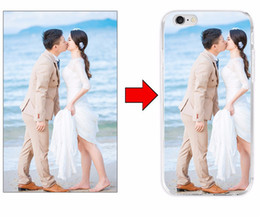 Wholesale print 3d photos - DIY Custom Art Print Case Add Private Logo Photo Picture 3D Cartoon Cases Custom-made TPU Full Area Cover Case for iphone 7 6 6s plus 5s SE